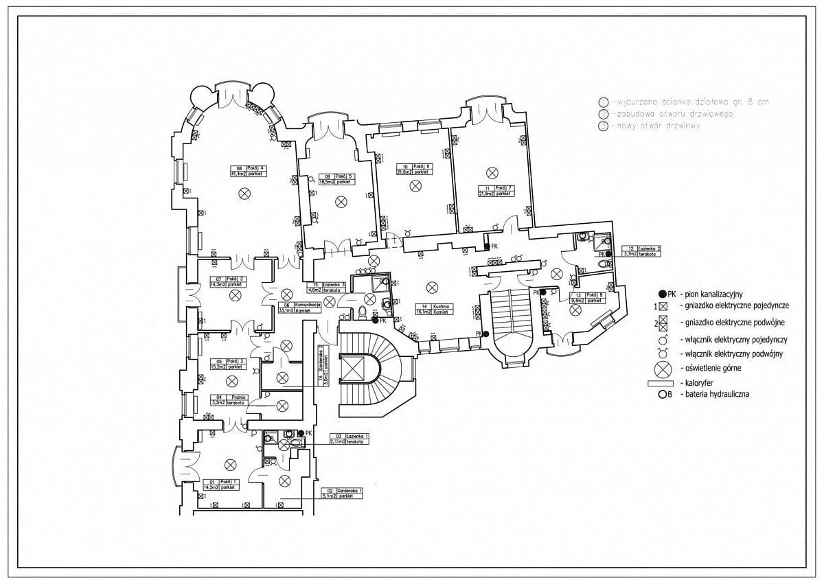 Mieszkanie 7 pokojowe na Wynajem
